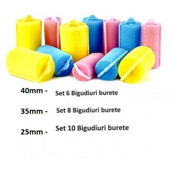 Bigudiuri Burete - Set 6, 8 sau 10 Bucati
